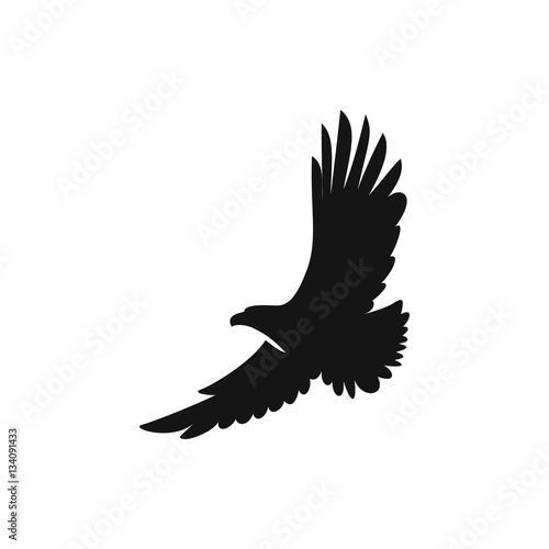Photo eagle icon illustration