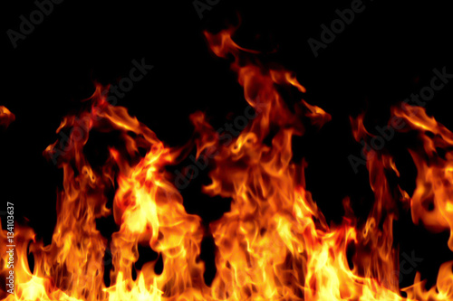 Canvas Prints Fire / Flame real fire flames burn