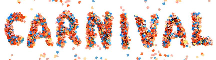 Carnival colorful confetti letter