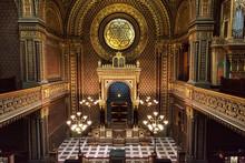 Interior Of Spanish Synagogue In Prague, Czech Republic