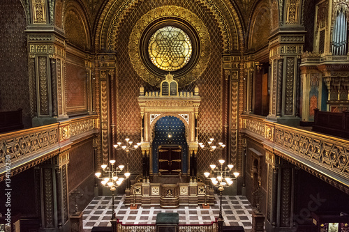 Fotografie, Obraz Interior of Spanish synagogue in Prague, Czech Republic
