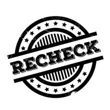 Recheck Rubber Stamp. Grunge D...