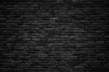 Fototapeta black brick wall, dark background for design