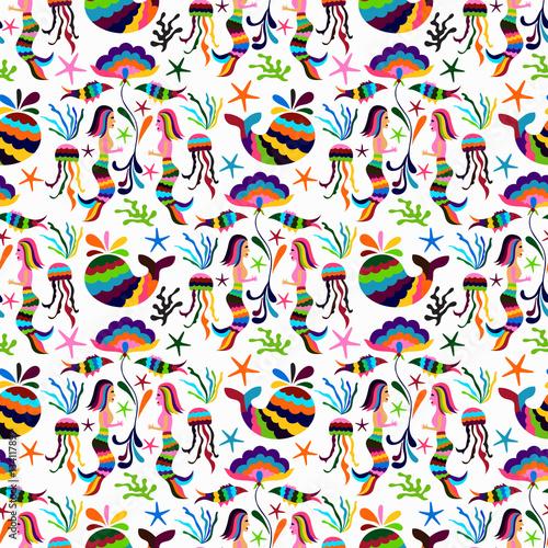 Materiał do szycia Otomi styl wektor wzór