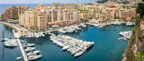 Fotografía  Monte Carlo harbour city panorama