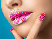 Lips With Sweet Donut Makeup