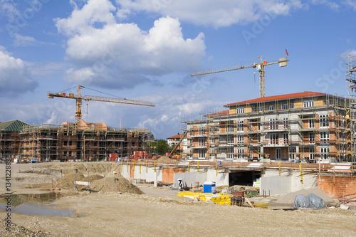 Foto op Plexiglas Construction Site with crane