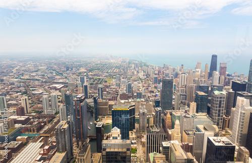 Keuken foto achterwand Seoel Panorama view of downtown Chicago