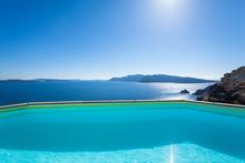 Santorini, Grecja, Oia - Luksusowy Resort Z Basenem I Pięknym Widokiem Na Morze