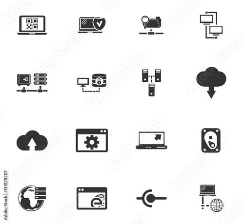 Fototapety, obrazy: server icon set
