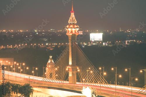 light up the bridge in bangkok Poster