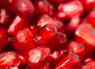 Pomegranate as a background. macro