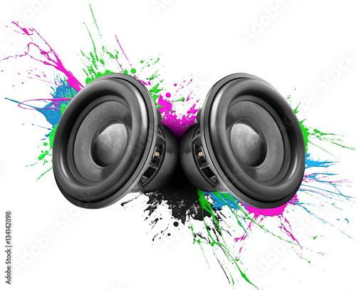 Obrazy muzyczne  music-speakers-colorful-design