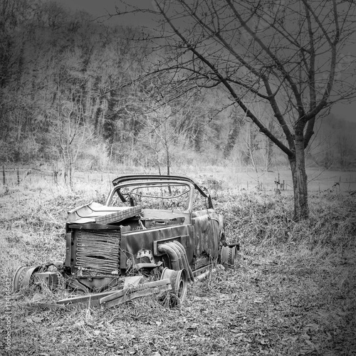 Fototapety, obrazy: old car in the woods