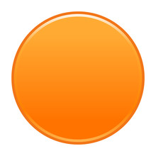 Orange Circle Button Empty Web Internet Icon