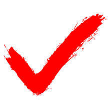 Red Check Mark Sign Addition Icon