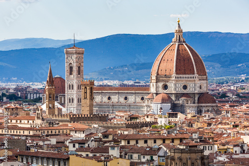 Keuken foto achterwand Florence View of Florence cityscape overlook to Cattedrale di Santa Maria