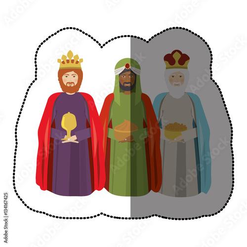 Photo three wise men icon vector illustration graphic design