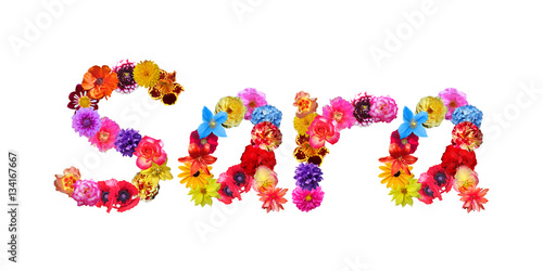 Sara Flower Name Canvas Print