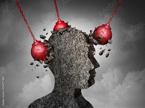 Fotografía  Painful Headache concept