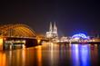 Köln - Kölner Dom mit Brücke, Rhein und Musical Dome