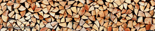 Printed kitchen splashbacks Firewood texture Holz