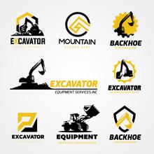 Logo Collection Set Of Backhoe...