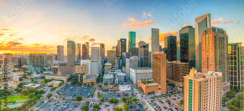 Canvas Prints American Famous Place Downtown Houston skyline