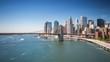 New York Brooklyn bridge Fast Ferry boat moving Day timelapse