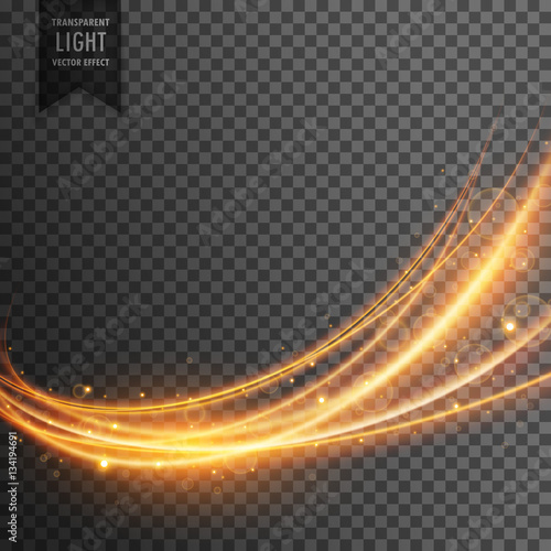 Fototapety, obrazy: abstract transparent light effect in wave style