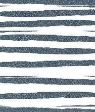 Blue Ragged, Uneven Glittery Stripes On A White Background. The Texture Of The Glitter. Rectangular, Vertical.