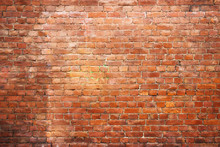 Texture Vintage Brick Wall, Background Red Stone Urban Surface
