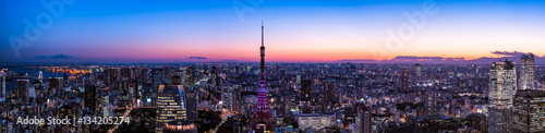 Cadres-photo bureau Tokyo 東京タワーと東京都心の夕景・夜景