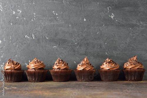 Photo  Chocolate cupcakes