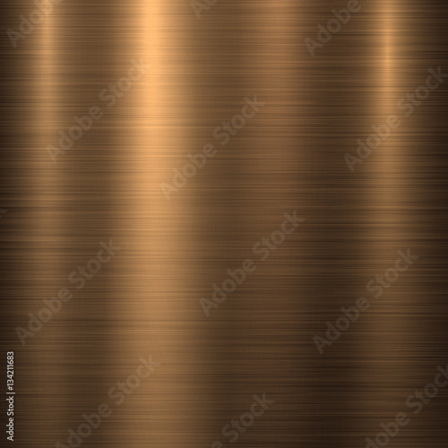 Tablou Canvas Bronze metal technology background with polished, brushed texture, chrome, silver, steel, aluminum, copper for design concepts, web, prints, posters, wallpapers, interfaces