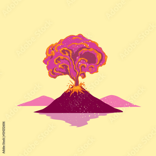 Fotografie, Obraz  Volcano erupt