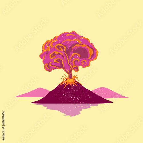 Volcano erupt Fototapet