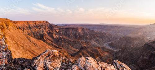 Fotografie, Obraz  Fish River Canyon, scenic travel destination in Southern Namibia