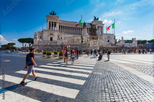Photo View on the National Monument to Victor Emmanuel II - first king of a unified It