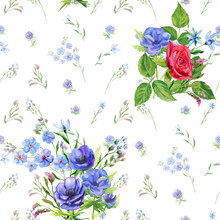 Floral Square Seamless Pattern...