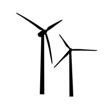 Icon Of Wind Turbine. Vector