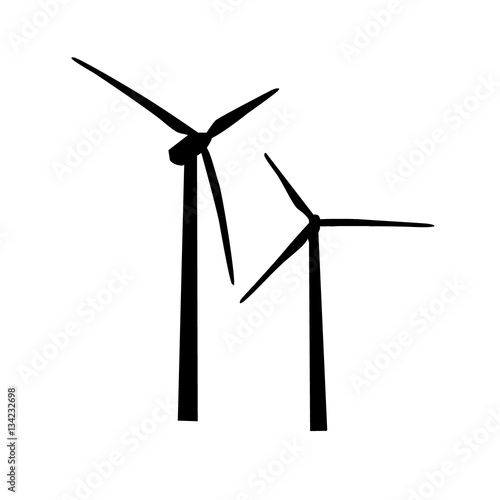 Fotografie, Obraz  icon of wind turbine. vector