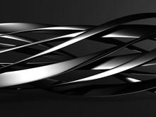 Glossy Metallic Dark Silver Elegant Background