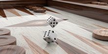 Wooden Backgammon Board. 3d Il...