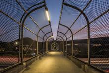 Pedestrian Footbridge With Lon...