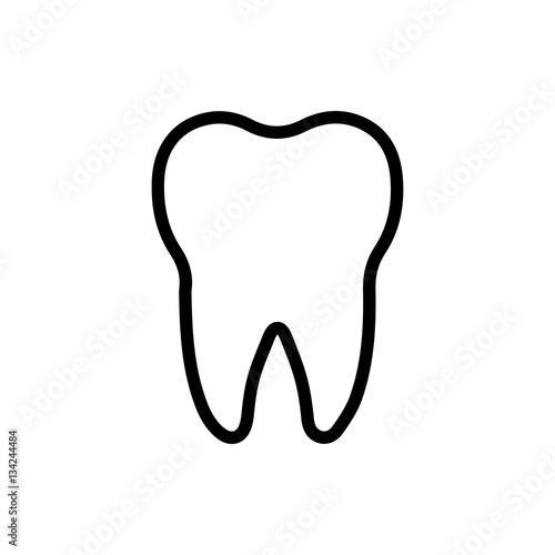 Fotografía tooth icon illustration