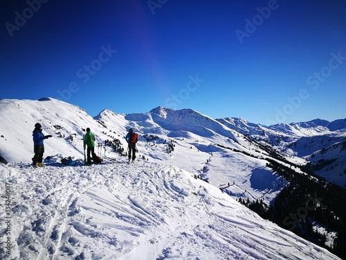 Skitouren Geher am Joelspitz Alpbach Canvas Print