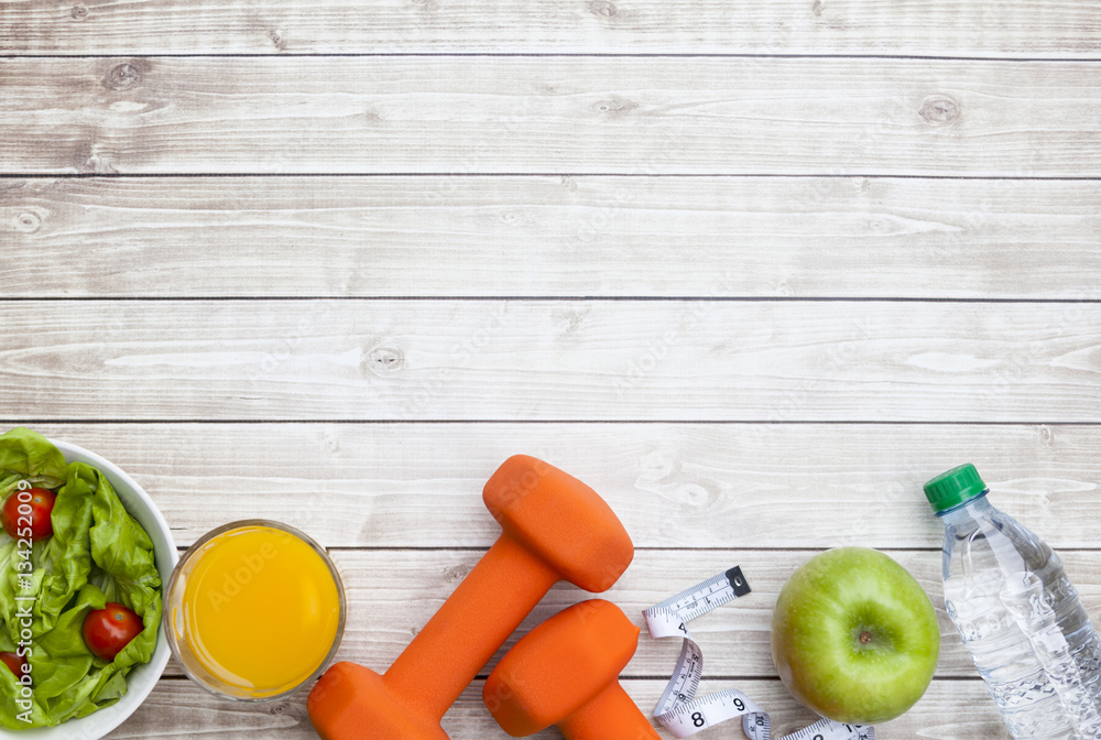 Fototapeta Healthy Diet Fitness Background