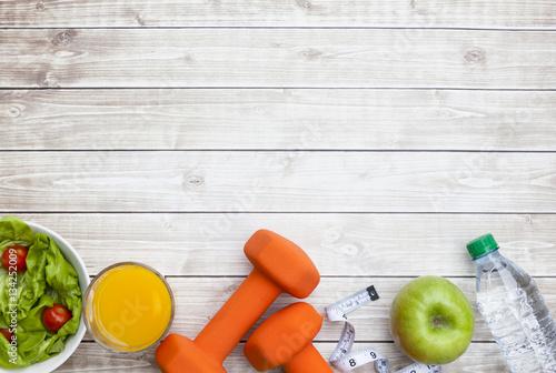Fototapeta Healthy Diet Fitness Background obraz