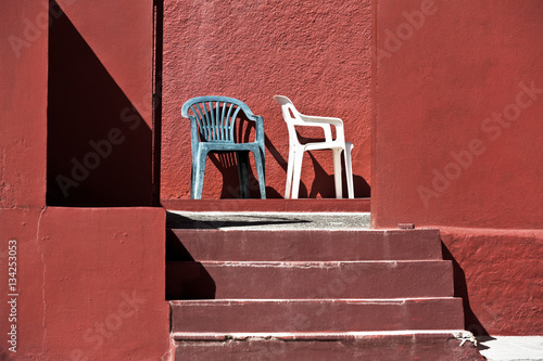 Chairs and Stairs Costa del Sol Poster